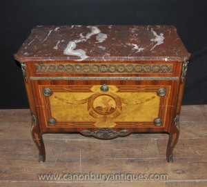 Empire français Antique Commode Commode tiroirs Chérubin Marqueterie Inlay