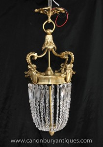 Empire français Ormolu Chandelier Light Lampe Lanterne