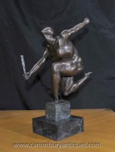Français Bronze Absract Art cubiste Statue Figurine