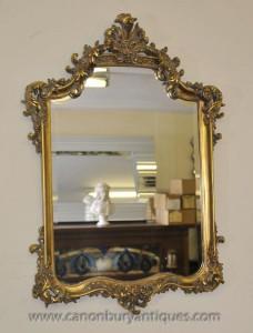 Français Louis XVI Gilt Pier verre miroir Miroirs