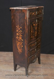 Français Louis XVI Secretaire Chest bureau Marqueterie Inlay Meubles