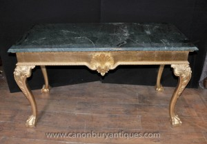 George III Queen Anne Gilt Table console de Hall tableaux
