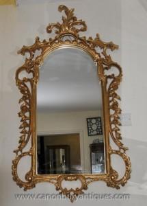 Grande George II Gilt Pier verre miroir rococo