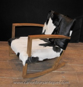 Moderniste Funky Animal Print Rocking Chair Fauteuils