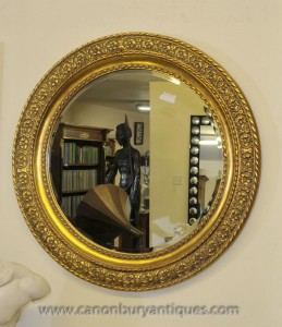 Regency Gilt miroir rond verre Miroirs