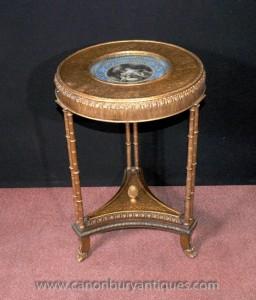 Sèvres simples Français table latérale Jambes Gilt Louis XVI