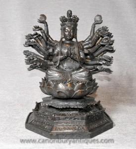 Statue en bronze d'art dieu hindou Durga Déesse Mère l'hindouisme