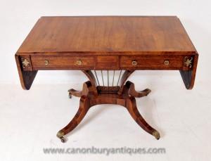 Tableau Antique Regency canapé dans les tableaux Noyer console