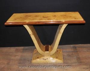 Tables Art Déco Oggee Tableau salle érable moucheté 1920 Console
