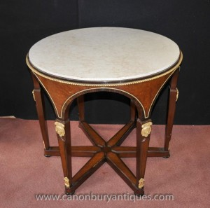 Tables Centre Round Table Empire français Kingwood Ormolu