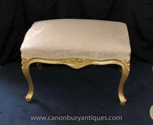 Tabourets Seat français Louis XV Gilt Tabouret