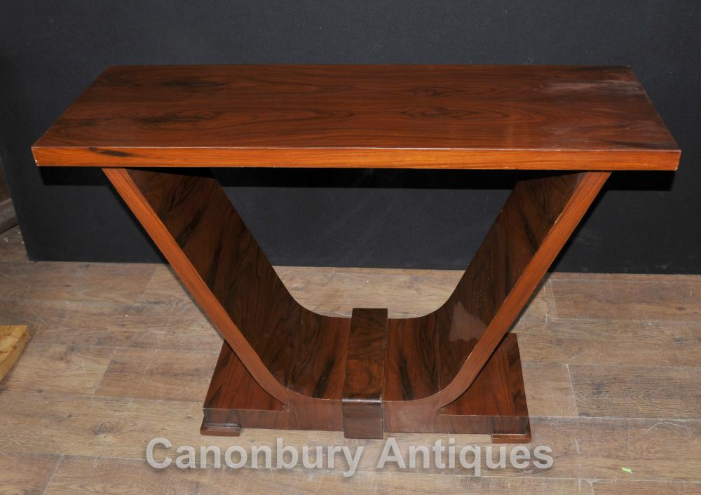 Art Déco Rosewood Table console Oggee 1920 Vintage tableaux