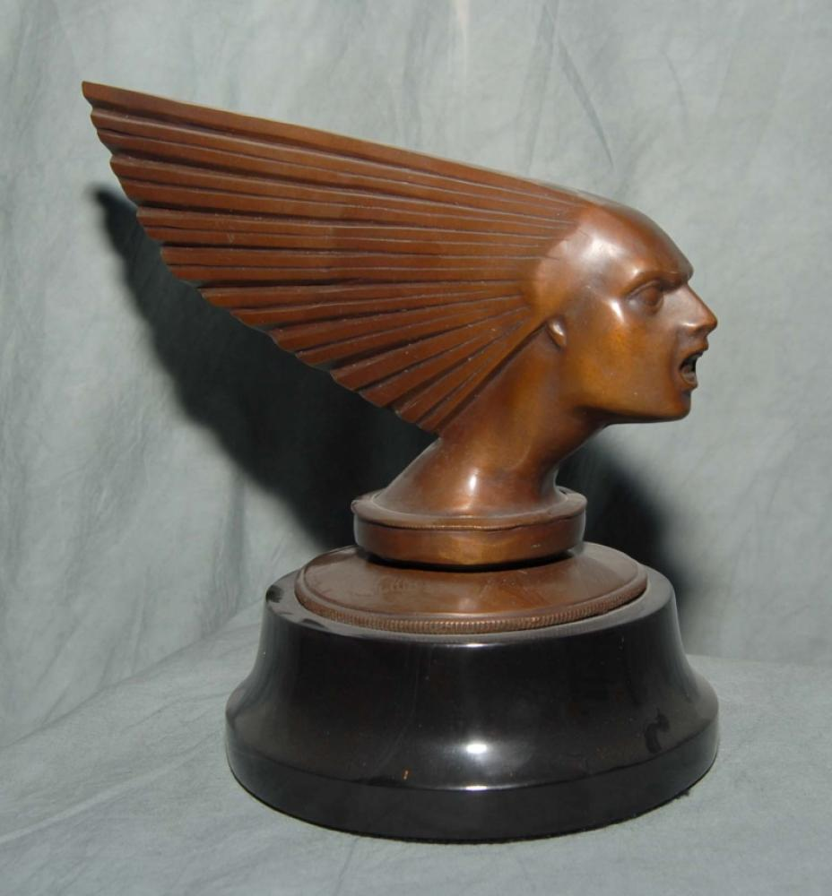 Art Deco Bronze Victoire Buste Homme Head