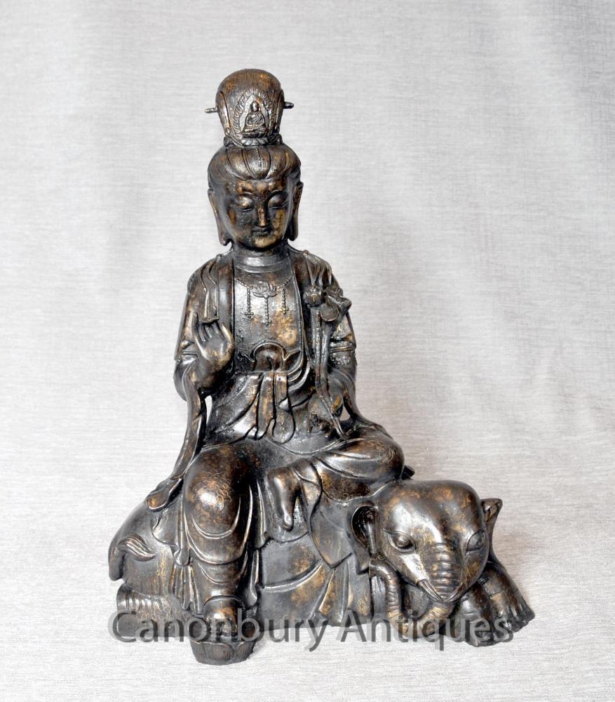 Bronze népalaise Buddha Elephant statue bouddhiste art bouddhiste