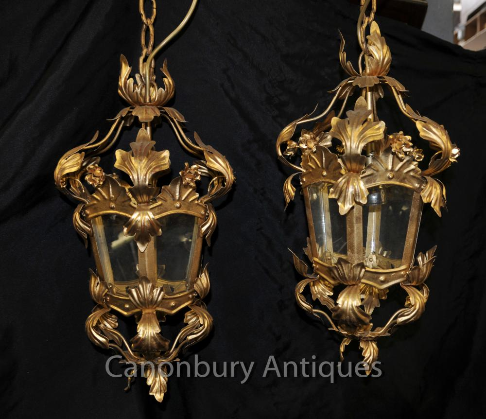 Français Rococo Empire lustres Lanternes Ormolu luminaires suspendus