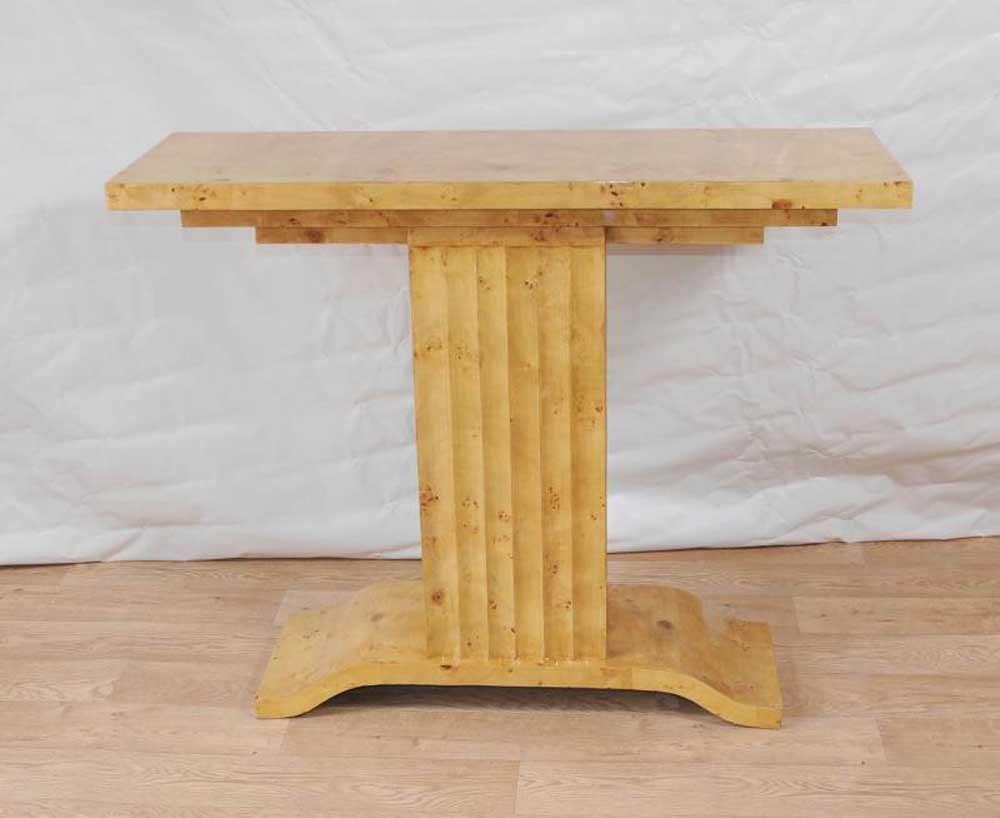 Tables Art Déco des années 1920 Table console Blonde Noyer Meubles Vintage