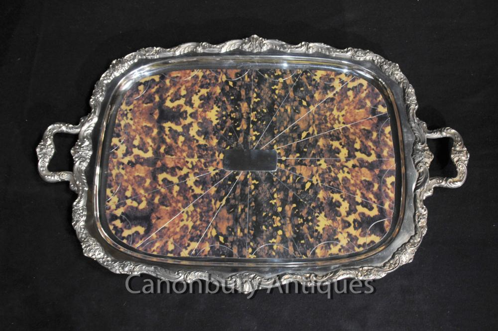 Victorienne Silver Plate Plateau Gadroon Butlers Platter Tort