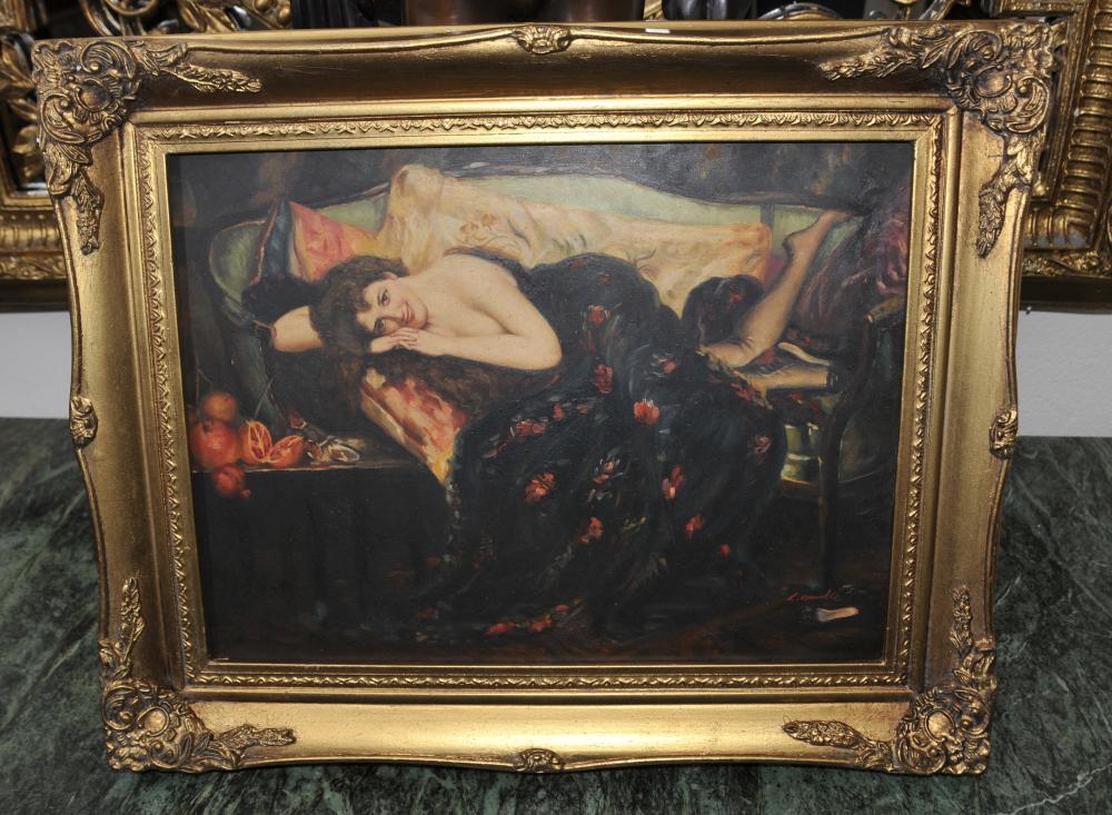 Anglais préraphaélite Peinture à l'huile Portrait Femme