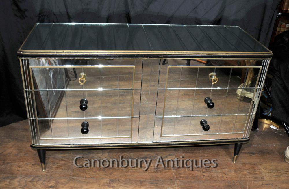 Art d co antique miroir cabinet commode 1920 meubles for Meuble miroir
