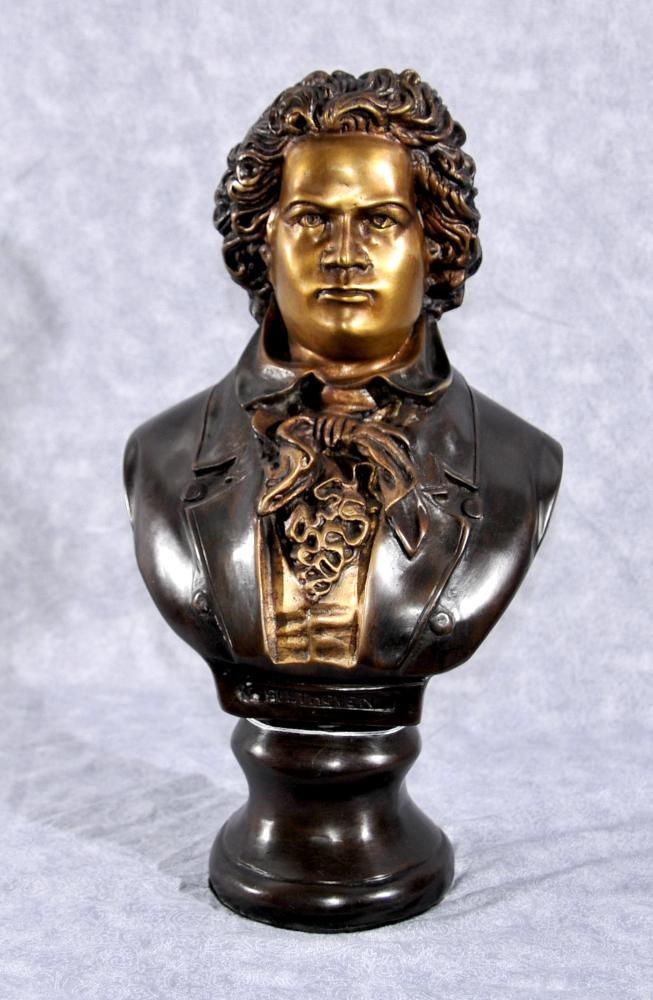 Buste en bronze Beethoven musique romantique allemande Compositeur Statue