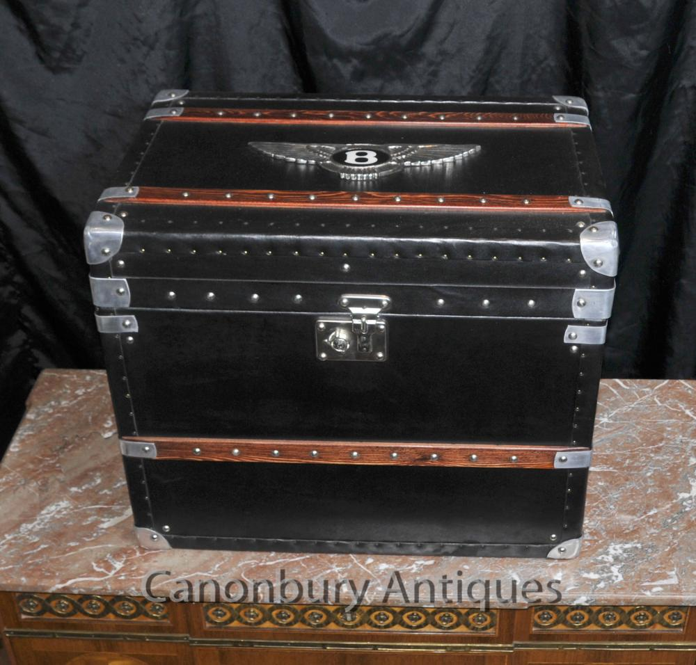 Case bagages Anglais Bentley coffre de voiture Steamer Side Box Table