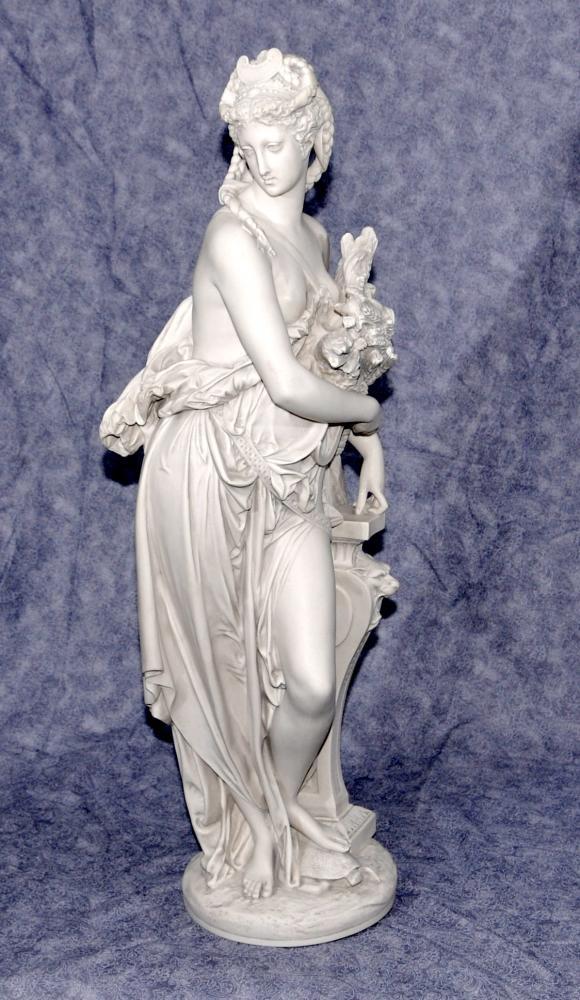 Classique italienne Pierre Figurine Dilettanti Muse par Carrier