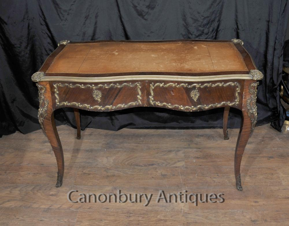 Empire français Antique bureau Bureau Table Plat 1,860
