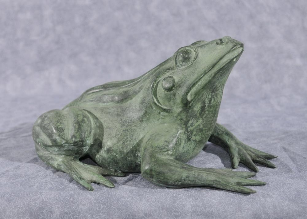 Français Bronze Frog Fountain Toad Garden Sculpture Statue
