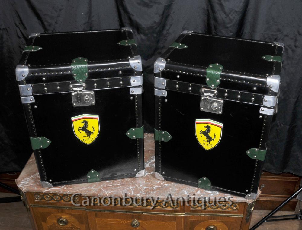 Les valises paire en cuir italien Ferrari voitures Boîtes malle tableau
