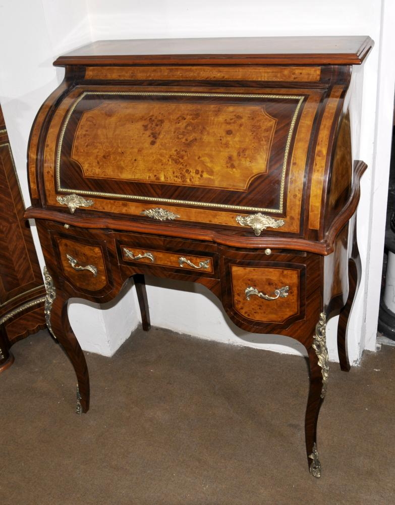 Louis XVI Roll Top bureau Noyer Bureau Plat Meubles