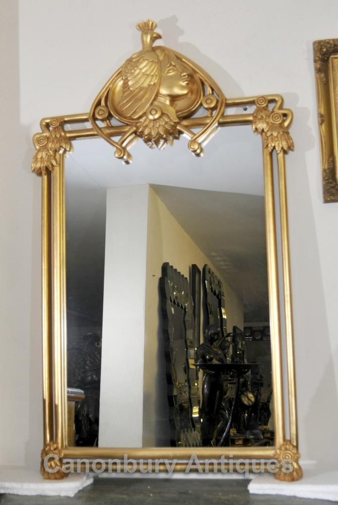 Art nouveau fran ais gilt pier verre miroir miroirs for Miroir francais