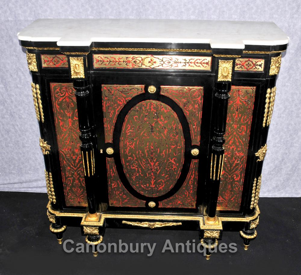 Français Louis XVI Boulle Cabinet Bahut Buffet Buhl Inlay