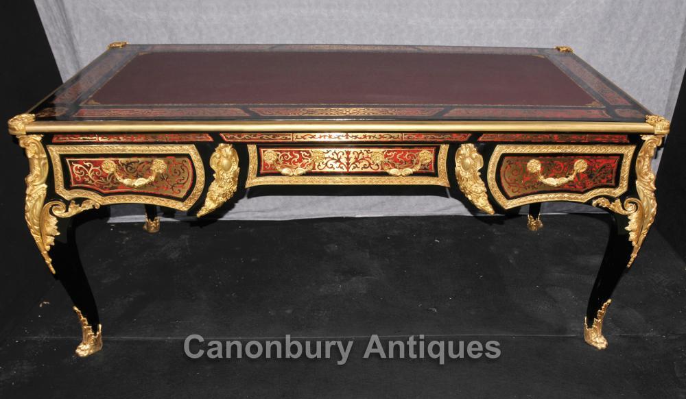 Grand Boulle Louis XVI bureau Bureau Table Plat Marqueterie Inlay