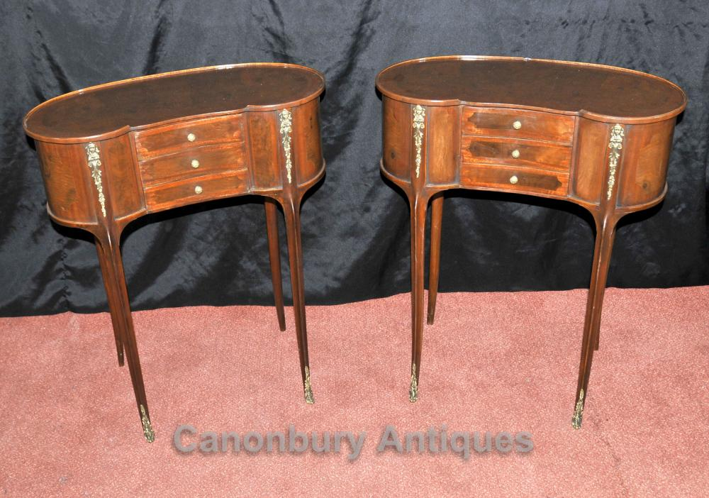 Paire français Louis Philippe rein Side Table de chevet chevet Commodes