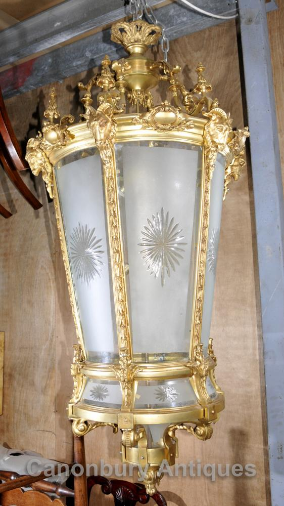 Éclairage XL Empire français Ormolu Lantern Light Chandelier Interiors