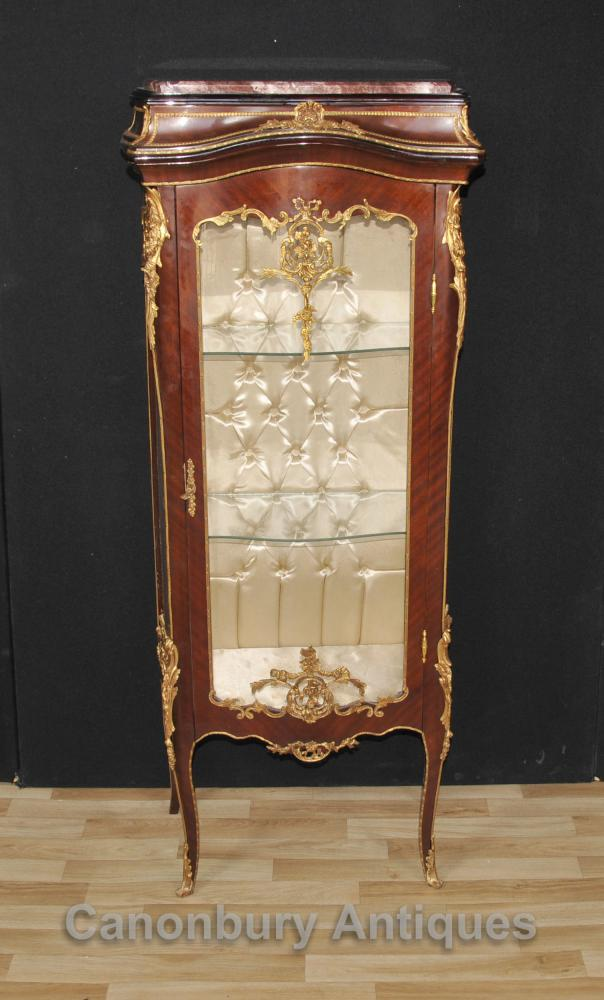 Affichage français Louis XVI en verre Cabinet Bijouterie Joaillerie