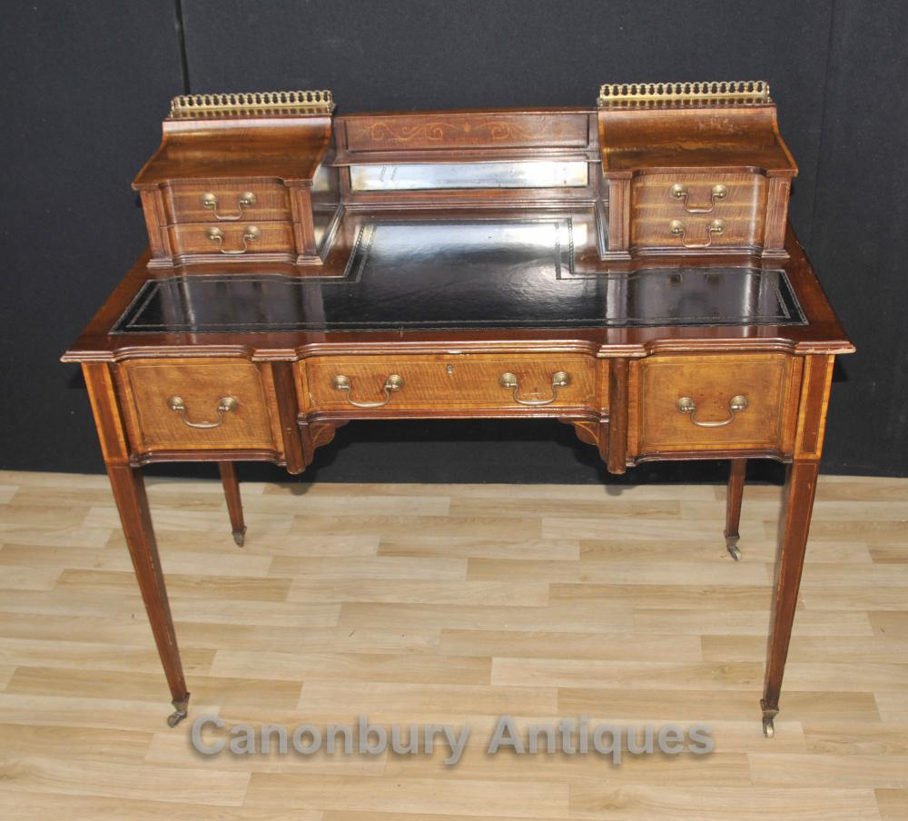 Antique Edwardian Carlton House bureau Table 1910