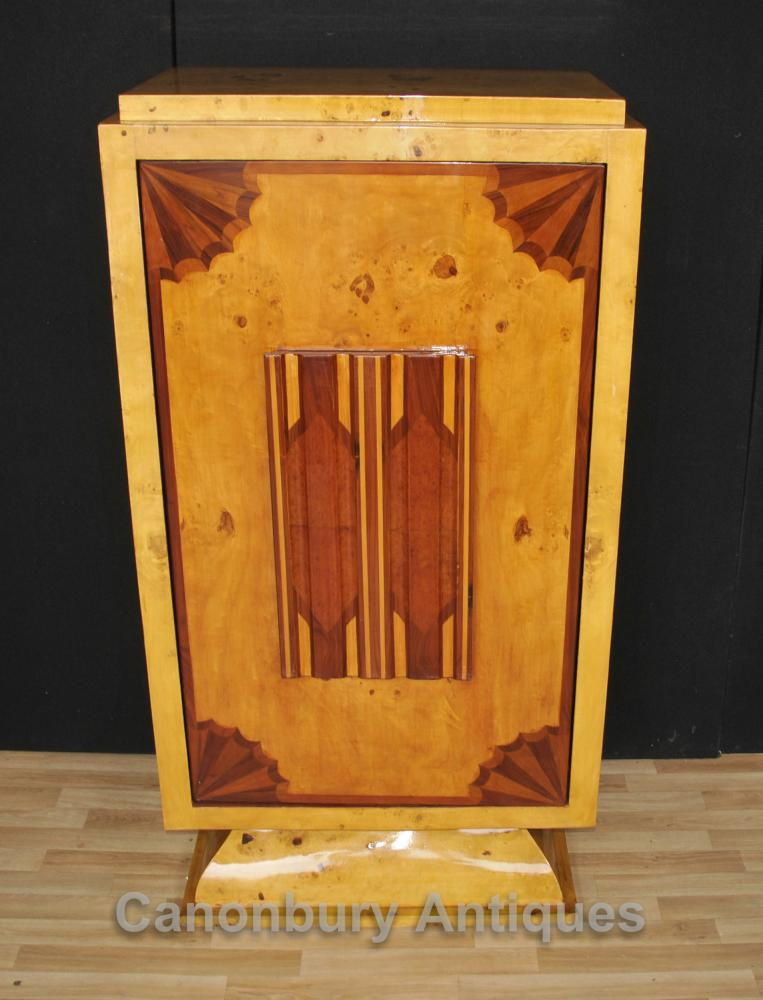Art Déco Cocktail Cabinet Boissons Chest 1920 Meubles