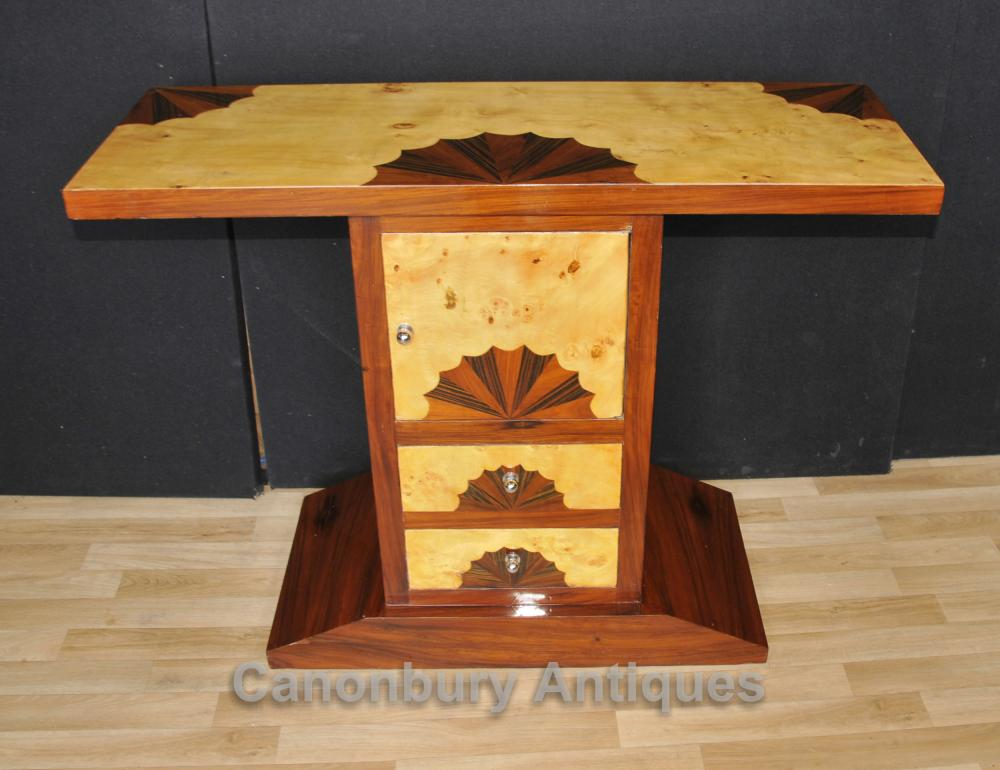 Art Deco Chest Table Console Shell Inlay Furniture
