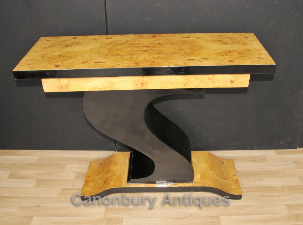 Art Deco Hôtel Table Z Tables console en forme de design Intérieurs