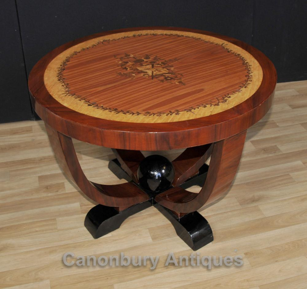 Art Deco Round Side Table Cocktail Tables Meubles