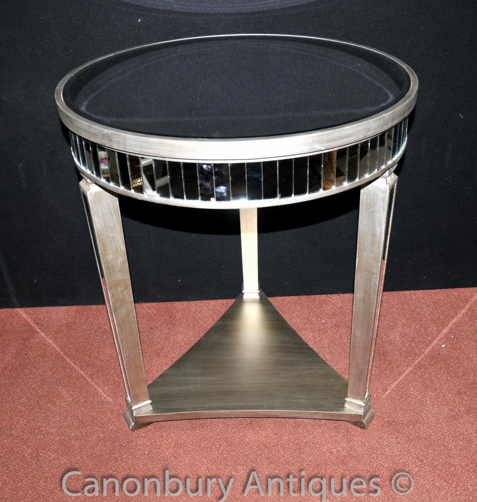 Big Art Deco Mirrored Side Tables Table de cocktail Meubles