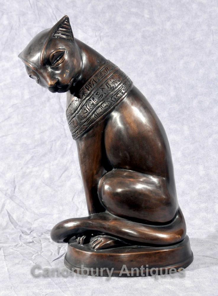 Bronze Statue de chat égyptien Feline Felus casting Egypte Chats