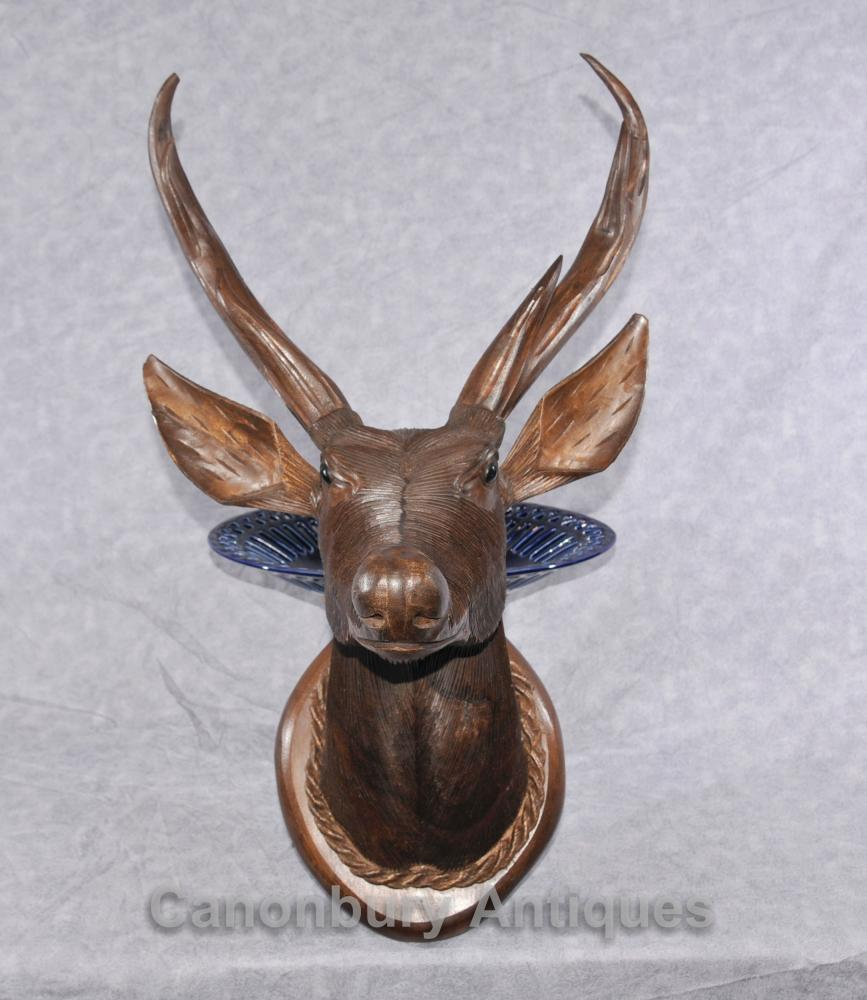 Main écossaise sculpté Buste Stag Hunting Lodge Highlands de Deer Stags