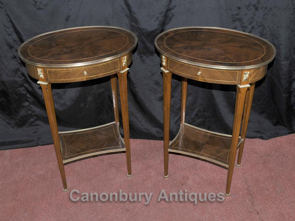 Paire Regency Side Tables Cocktail Table English Meubles
