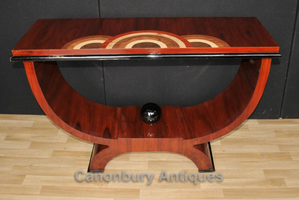 Rosewood Art Déco Console Coffee Table 1920 Meubles Salle Tableaux