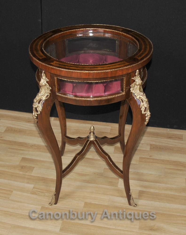 Table française Empire Bijoux Cabinet Bijouterie Side
