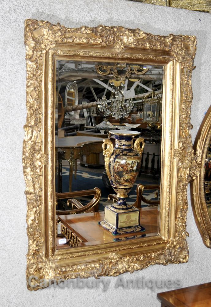 Victorian Gilt Mantel Mirror verre Miroirs