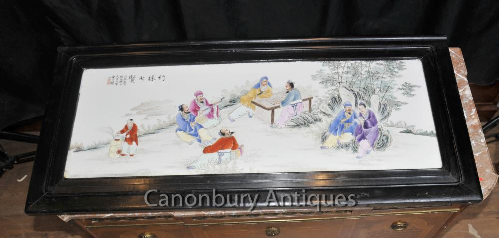 Peint écran Antique Chinese Porcelain Plaque Image Main