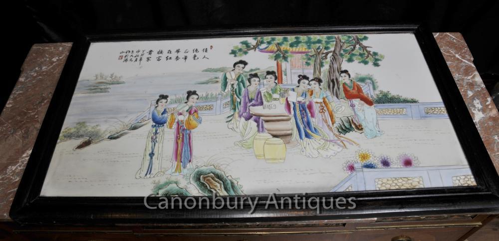 Écran Porcelaine Kutani japonaise Plaque peinte à la main Assiette en céramique